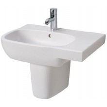 Umyvadlo klasické Kolo s otvorem Style aszmetrické pravé 65x46 cm bílá+Reflex