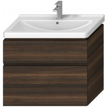 JIKA CUBITO-N skříňka pod umyvadlo 840x467x683mm, 2 zásuvky, tmavá borovice
