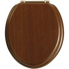 HERITAGE WC sedátko 378x444mm se soft-close, tvrzené, zlatá vintage/ořech