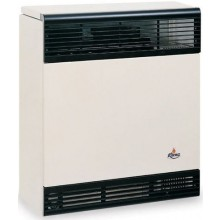KARMA BETA 3 ELECTRONIC 02 plynové topidlo 3kW závěsné, bez spínacích hodin, odtah přes zeď, slonová kost