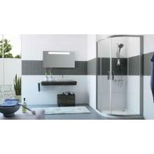 HÜPPE CLASSICS 2 posuvné dveře 900x900x1900mm čtvrtkruh, stříbrná pololesklá/čiré AntiPlaque