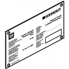 GEBERIT štítek pro protipožární uzávěr RS90Plus