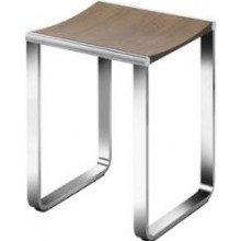 KEUCO ELEGANCE NEW stolička 340x365mm, chrom/ořechová dýha