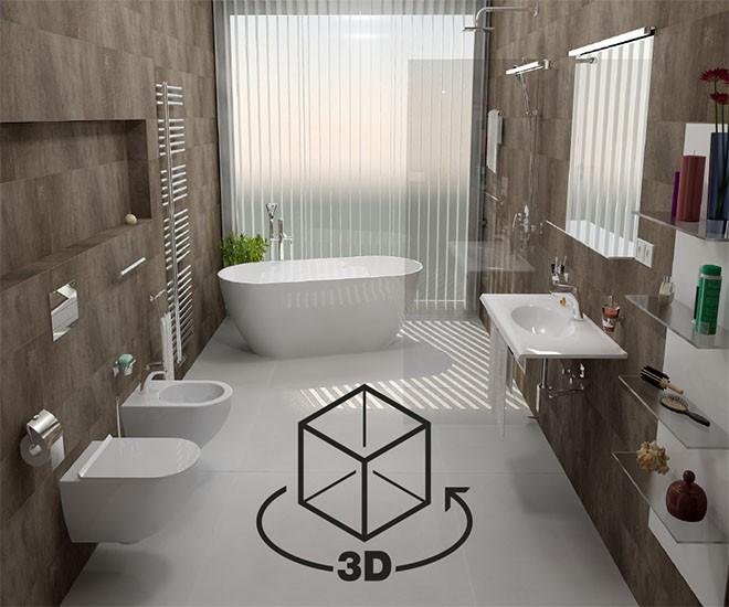 3D panoramatický pohled na vaši koupelnu!