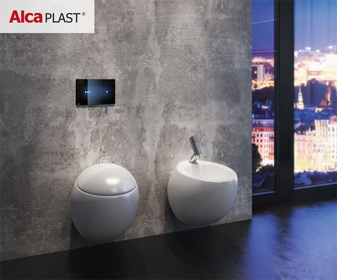 Tlačítka Alcaplast budou ozdobou toalety