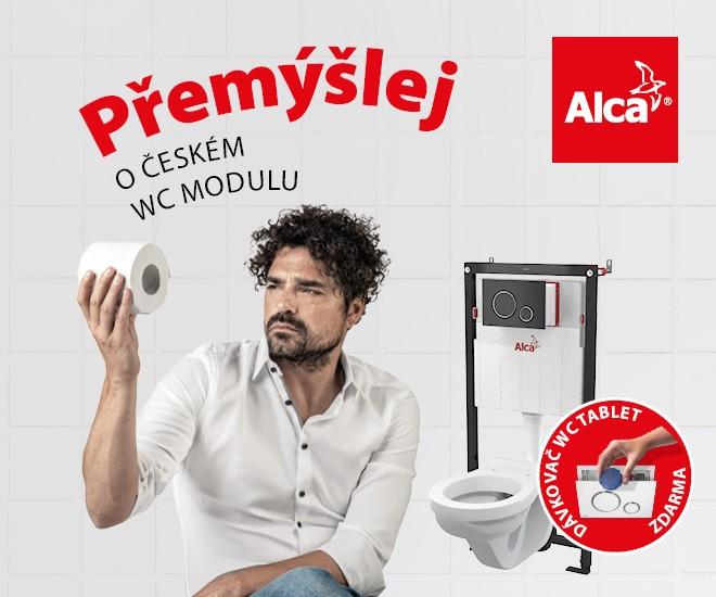 WC moduly Alca s dávkovačem tablet zdarma