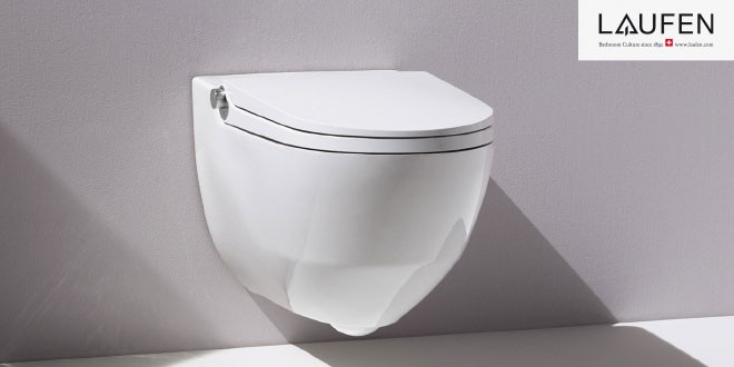 Toaleta LAUFEN Cleanet Riva s integrovanou sprškou